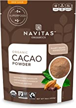 product image for Navitas Organics Cacao Powder, 16 oz. Bags (Pack of 2) — Organic, Non-GMO, Fair Trade, Gluten-Free (19-002)