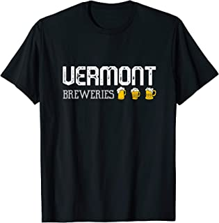 State Vermont Breweries Craft Beer- I LoVermont Vermont Beer T-Shirt