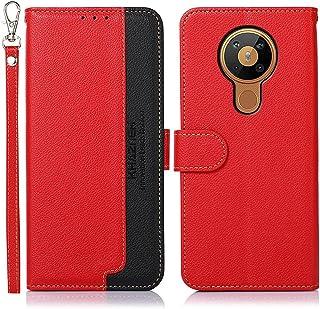 MOONCASE Case for Nokia 5.3, Leather Case Wallet Case [RFID Blocking] [Card Slot] [Wrist Strap] Magnetic Closure Flip Cove...