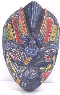 Wooden Peacock Batik Mask Hand Carved Wood Bali Art Wall Decor Mask 12