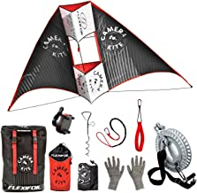 Flexifoil 1.6m Wide Camera Kite for Action Camera or Smartphone. by World Record Winning Kite Designer - Safe, Strong, Reliable and Durable Family Outdoor Beach Activities for Adults and Teens