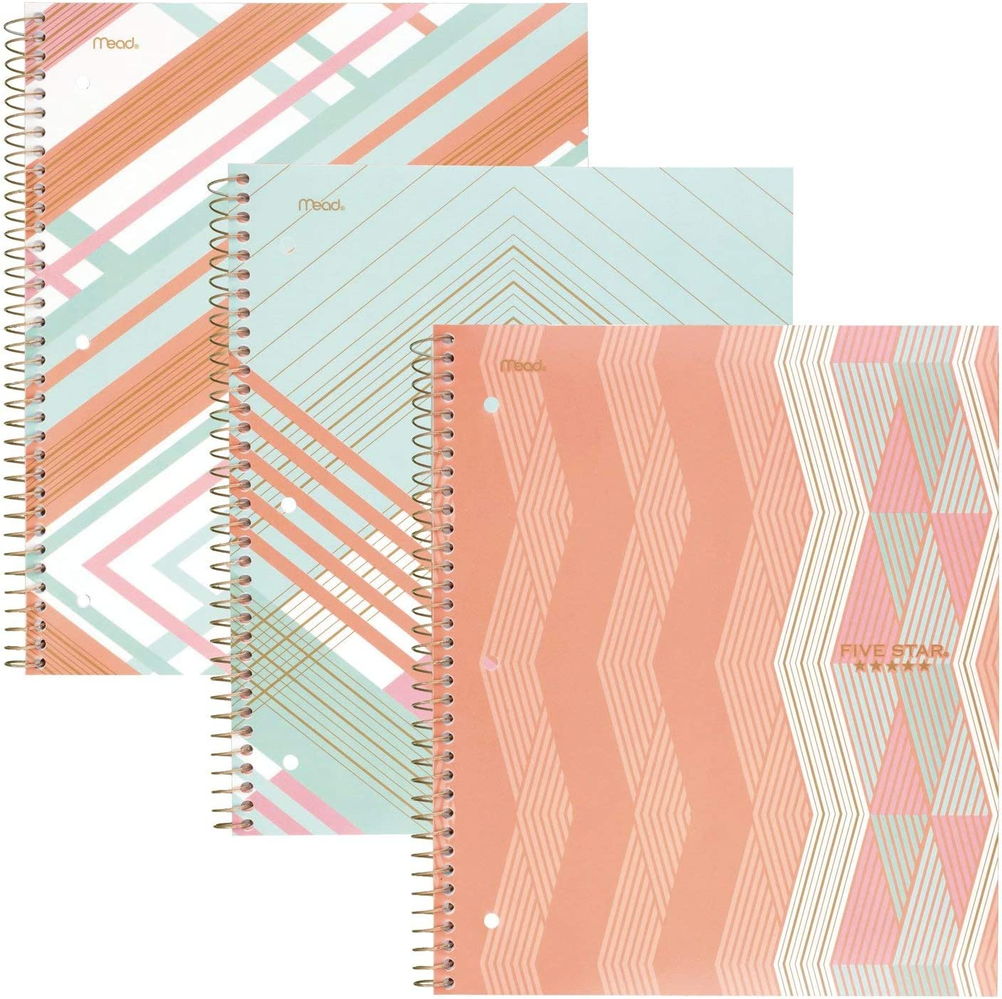 Five Star Spiral Notebooks 1 College Ruled Paper Subject 100 Max Genuine 50% OFF