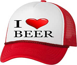 974723e08498b Rogue River Tactical Funny Trucker Hat I Love Beer Baseball Cap Retro  Vintage Joke Heart Alcohol