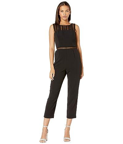 Bardot Lace Trim Jumpsuit (Black) Women