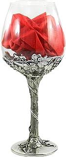 Calice Bicchiere personalizzato Vetro Metallo Peltro Colore Argento Per Vino Rosso Acqua Nobile Grande Matrimonio Made in ...