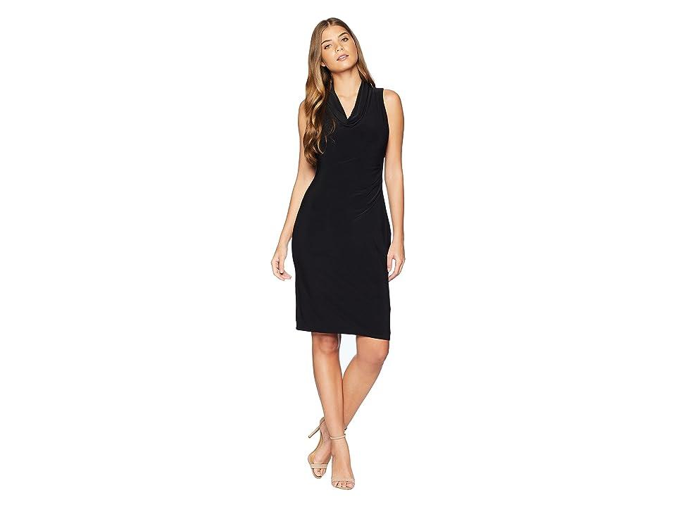 LAUREN Ralph Lauren Antoinette Sleeveless Day Dress (Black) Women