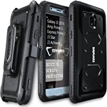 Galaxy J3 2018/J3 V 3rd/Express Prime 3/Achieve/J3 Star/Orbit/Amp Prime 3 COVRWARE [Aegis Series] Built-in [Screen Protector] Heavy Duty Full-Body Armor Belt Clip Holster Case[Kickstand] Black