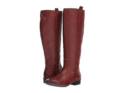 Sam Edelman Prina Wide Calf Leather Tall Boot (Redwood Brown Neymar Leather) Women