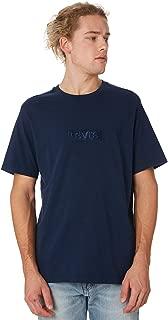 Levi's Men's Relaxed Boxtab Logo Mens Tee Crew Neck Short Sleeve Cotton Blue