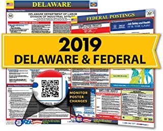 Osha4less 2019 Delaware State & Federal Labor Law Posters for Workplace Compliance