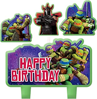 Amscan Teenage Mutant Ninja Turtles Candle Set (4pc),Green