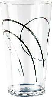 Reston Lloyd 75237SET Coordinates Simple Lines 19-Ounce Acrylic Square Glasses, Set of 6