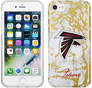 Prime Brands Group White and Gold Marble Design on TPU Skin Cell Phone Case for Apple iPhone 8/7/6S - NFL Licensed Atlanta...