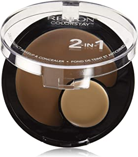 Revlon Colorstay 2 in 1 Compact Makeup & Concealer Sand Beige Face Concealer, Magic Pink R16
