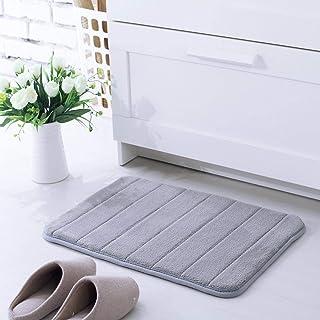 YIQI Alfombras de baño, Alfombra de baño Suave Alfombra de baño (40x60 cm, Gris)