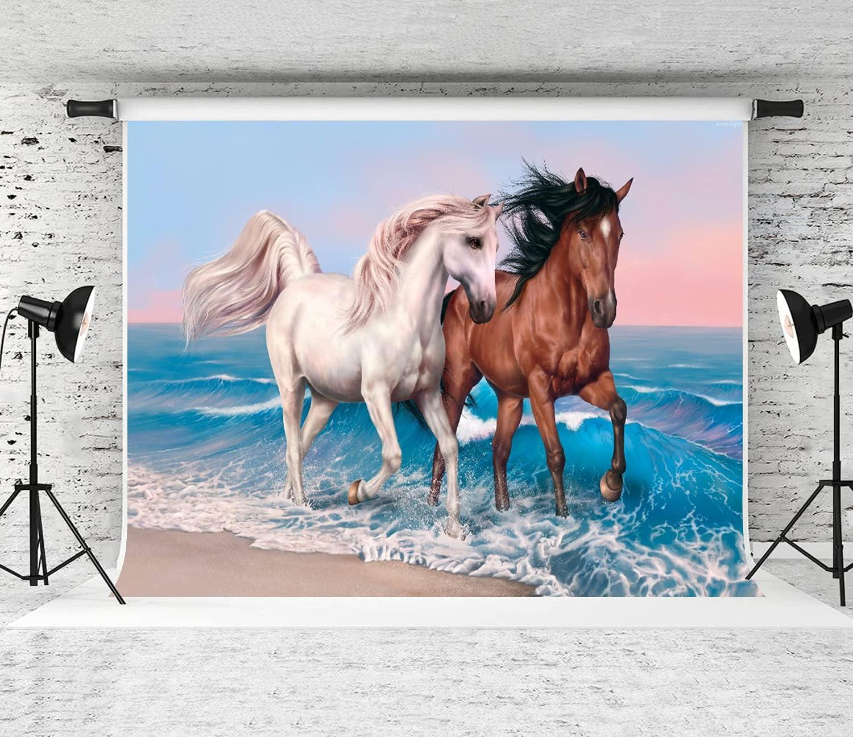 DAOPUDA Photography Background Horses Art quality assurance Party Beach Decora sea Portland Mall