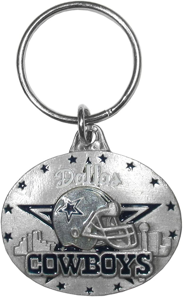 Japan Maker New Siskiyou Sports NFL unisex-adult Oval Max 61% OFF Metal Carved Chain Key