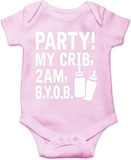 AW Fashions Party! My Crib, 2 AM, B.Y.O.B. Cute Novelty Funny Infant One-Piece Baby Bodysuit