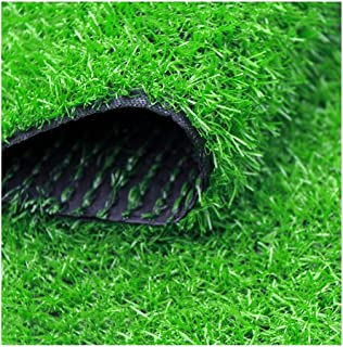 XEWNEG Artificial Turf Grass,20mm Fake Grass Door Mat Outdoor Indoor Synthetic Lawn Rug, Green Natural Realistic Looking G...