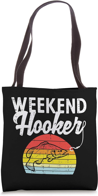 Weekend Hook Retro Bass Fish Fishing Fisherman Men Gift Tote Bag