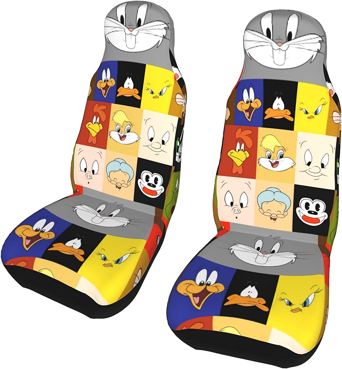 Cash special price Looney Tunes 2 Pcs Car Luxury goods Seat Front Auto Bucket P Seats Covers