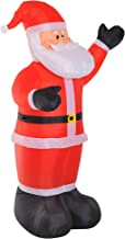 homcom Babbo Natale Gonfiabile Luminoso con Luci LED Decorazione Natalizia Altezza 2.4m