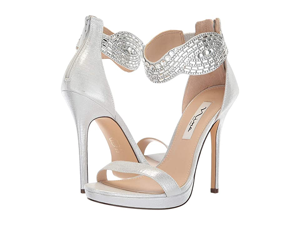 Nina Fayth (True Silver Reflective Suedette) High Heels