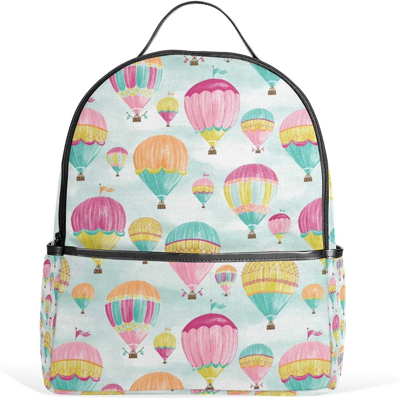 Hot Air Balloons Backpack for Men Women Back Pack Shoulder Bag Daypacks Teenagers's Travel bagpacks Casual Daypack for Travel