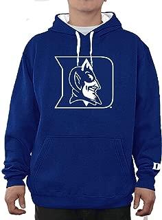 E5 Duke Blue Devils Mens Royal Embroidered Icon Hoodie Sweatshirt