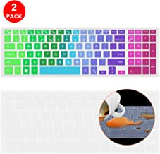 Lapogy Rainbow Dell Inspiron Keyboard Cover Compatible Dell G3 G5 G7 15.6 Inch Series, 15.6