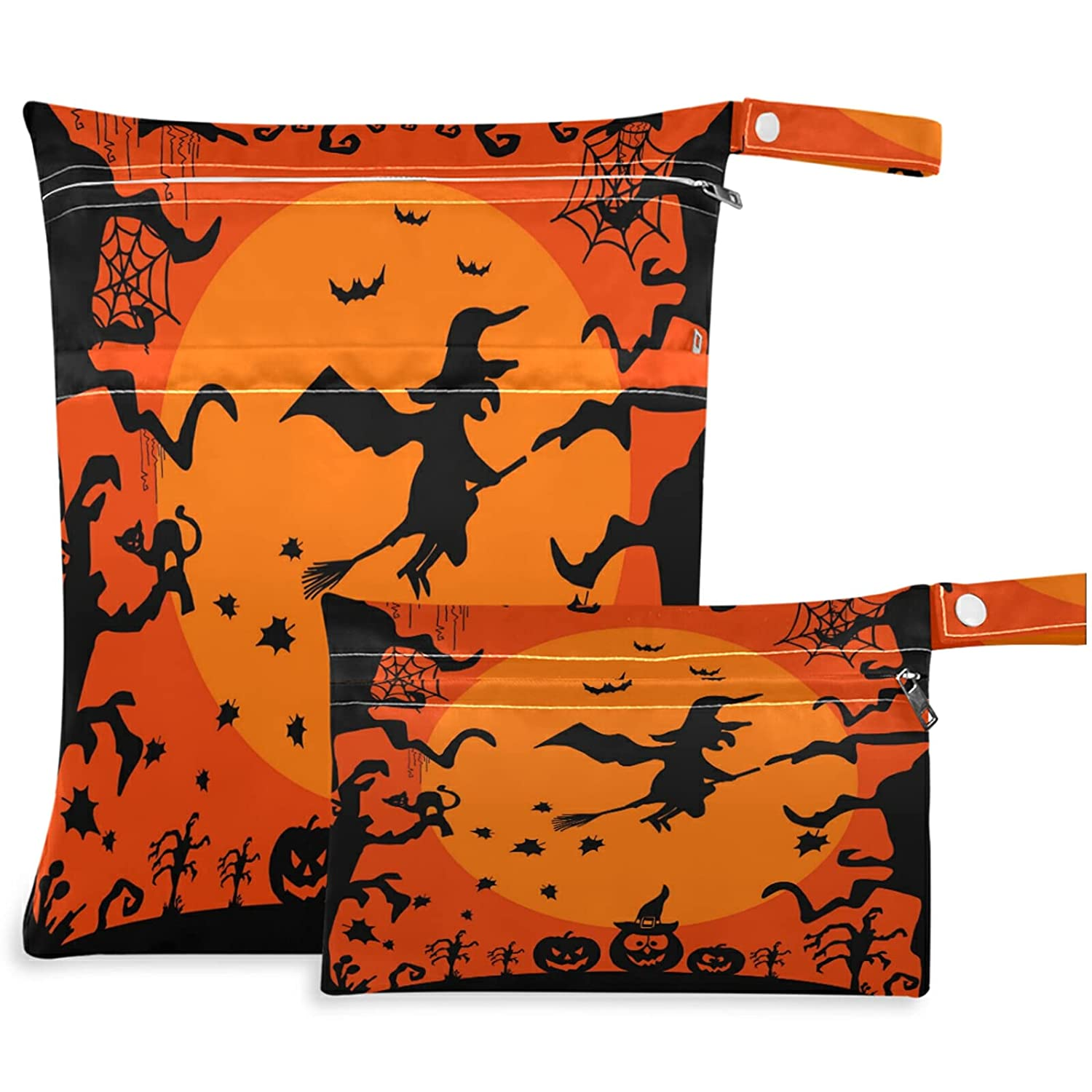 visesunny At the price Creative Style Selling and selling Happy Halloween Bat And Wet 2Pcs Witch