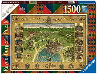 Ravensburger Harry Potter Hogwarts Map 1500 Piece Jigsaw Puzzle for Adults & for Kids Age 12 and Up