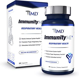 1MD ImmunityMD Plus Respiratory Health - with Vitamin C, Zinc, Elderberry, NAC and More - Immune System Support and Lung S...