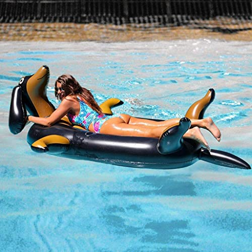 AQUYY Aufblasbarer Riesiger Hund, Sich Hin- Und Herbewegende Reihe des Swimmingpools, Erwachsener Größer Sich Hin- Und Herbewegender Bettsessel, Strandunterhaltungsspielzeug des Sommers Im Freien