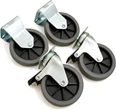 Design61 4-delige set bokwielen zwenkwiel bokwiel apparaat roller met klem Ø100 hoogte 125 mm