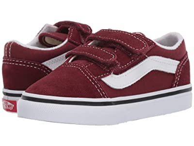 Vans Kids Old Skool V (Infant/Toddler) (Andorra/True White) Boys Shoes