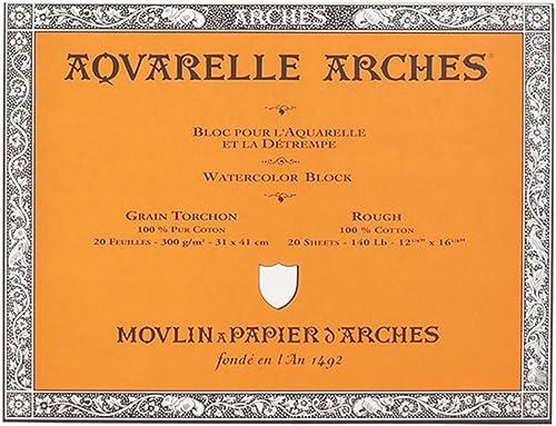 producto de calidad Canson Arches - Bloc encolado por los los los 4 lados, 31 x 41 cm, Color blanco natural  estar en gran demanda