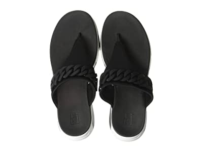 FitFlop Heda Chain Toe-Thong (Black) Women