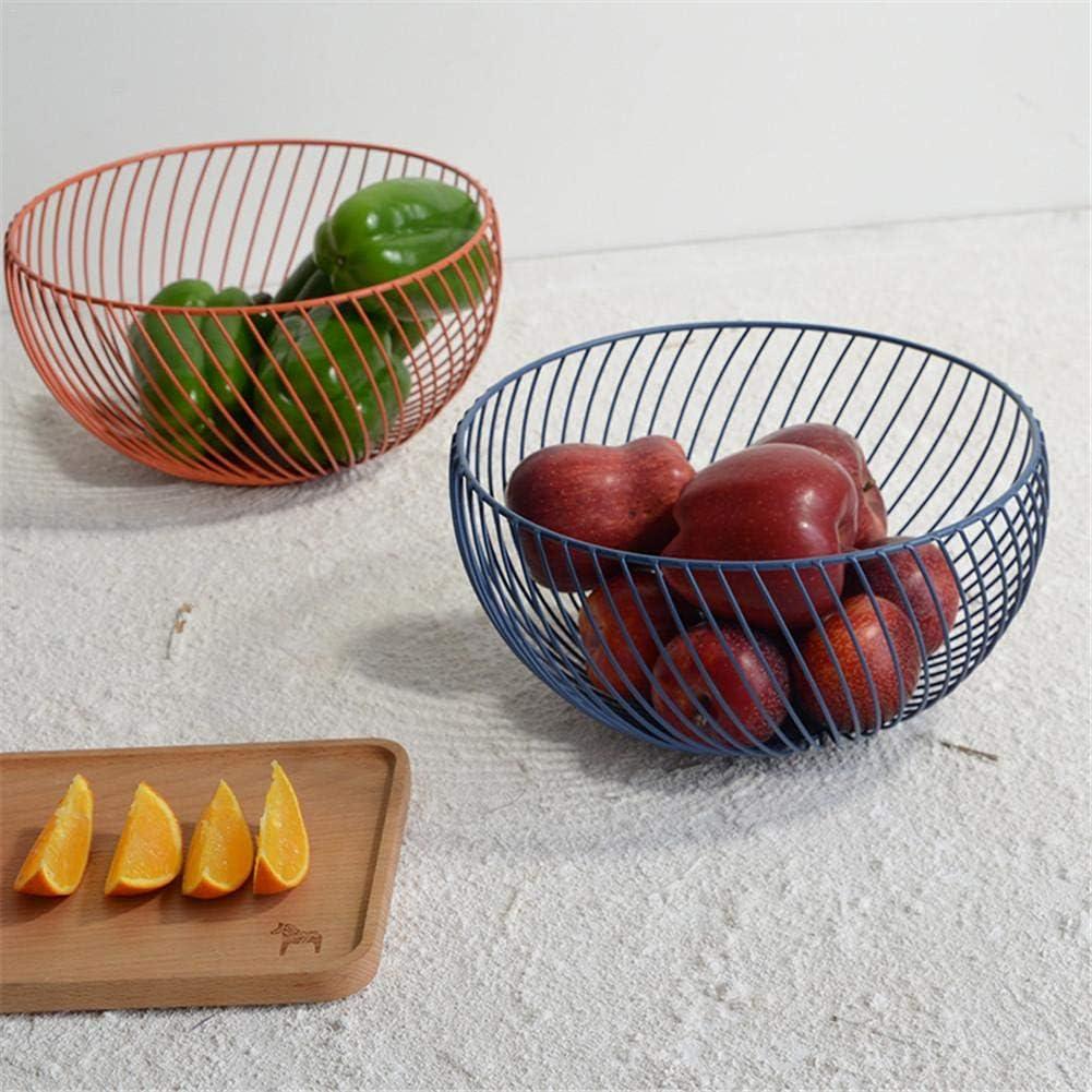 Portafrutta secca per soggiorno (Arancione) Cesto di frutta con scarico in metallo Ciotola per cesto di frutta in ferro Ciotola per cesto di frutta in rete creativa