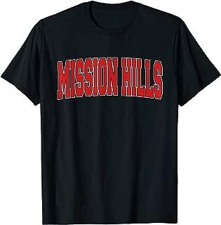 MISSION HILLS KS KANSAS Varsity Style USA Vintage Sports T-Shirt