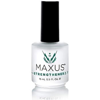 Maxus Nails Strengthener 2.0, Strengthening Nail Polish, Nail Hardener, 0.5 Fluid Ounces