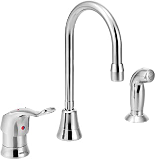 Moen 8138 Commercial M-Dura Single Handle Multi-Purpose Faucet with Side spray 2.2 gpm, Chrome