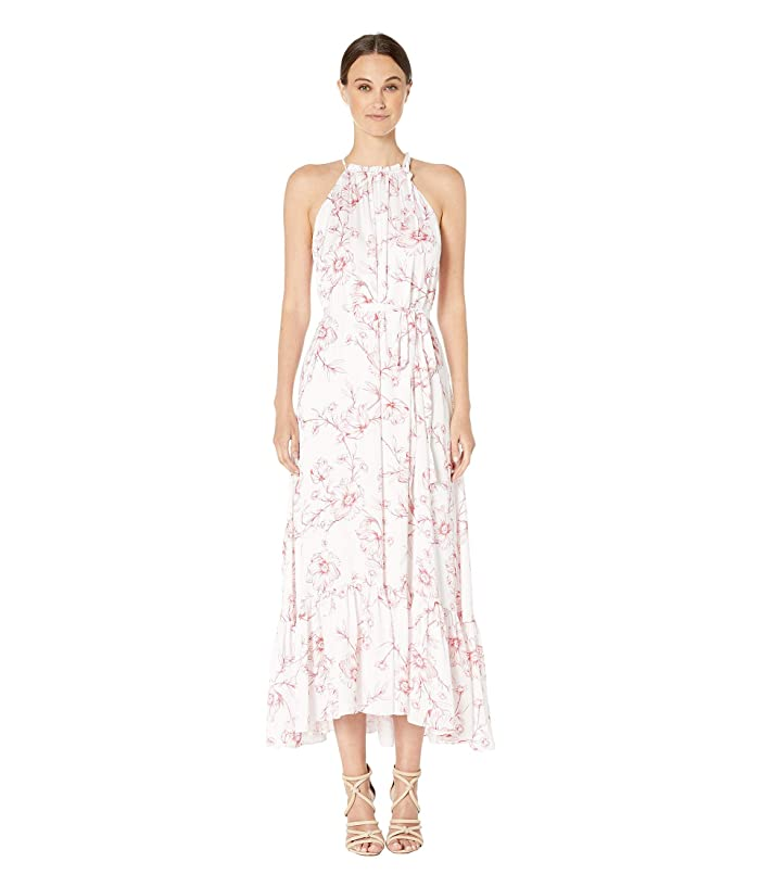 Freesia Floral Print Halter Full Length Dress by Ml Monique Lhuillier