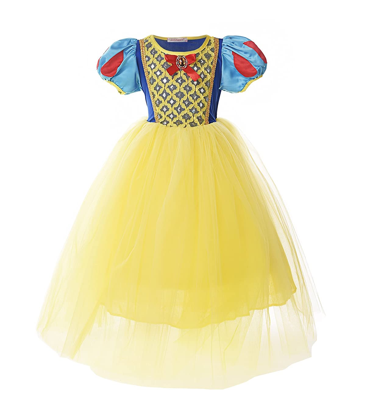 JerrisApparel Girl Classic Snow White Princess Costume Fancy Dress for Christmas
