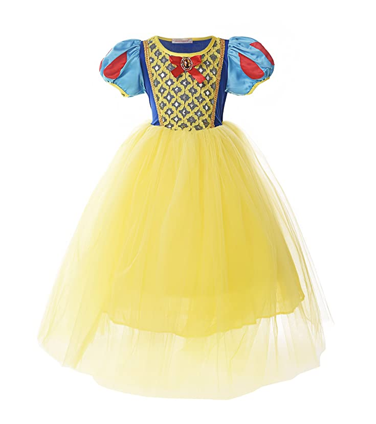 JerrisApparel Girl Classic Snow White Princess Costume Fancy Dress for Christmas irwkyrjp92917240