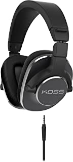 Koss Pro4S Full Size Studio Headphones, Black with Silver Trim