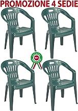 Sedie In Plastica Prezzi.Amazon It Sedie Da Giardino Verde