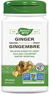 Nature's Way Premium Herbal Ginger Root, 1,100 mg per serving, 100 VCaps