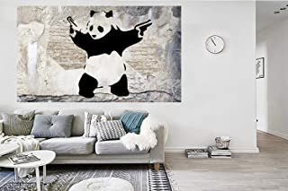 Eliteart-Panda with Guns, 30x48,Modern Home Decoration Self-Adhesive Wallpaper Mural Series