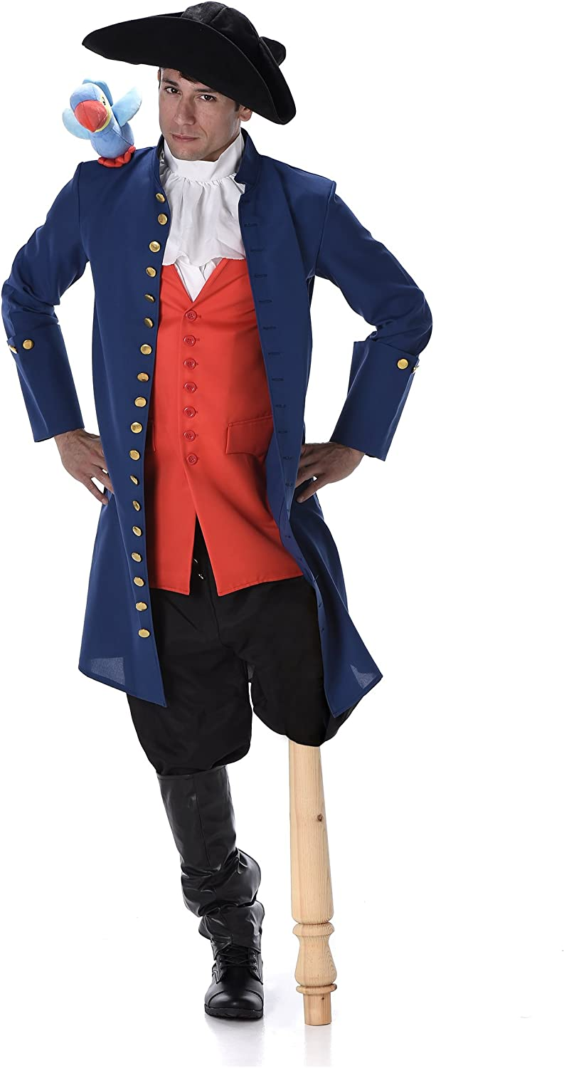 Pirate Costume Set  Halloween Medieval Navy Admiral with Toy Parred